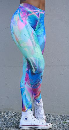 Mint & Chopsticks Sacred Geometry Life in Color Leggings. #leggings #fitness #festival