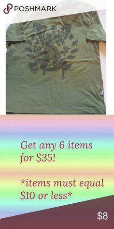 Boys Shaun White 6/7 Green Shirt Dragon/guitar short sleeved t shirt Shaun White  Shirts & Tops Tees - Short Sleeve