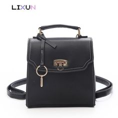 7df7abd2c0 Fashion 2018 Square Bag Girls Small Backpack For Teenager PU Leather Women  Daypack School Bags Ladies
