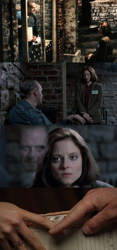 The silence of the lambs - Anthony Hopkins, Jodie foster - Very gripping story of psychopathic cannibal and an FBI agent. Winner of 5 Academy awards. Scary Movies, Great Movies, Charlie Chaplin, Hannibal Anthony Hopkins, Akira, 1990s Films, Jodie Foster, New Wave, Hannibal Lecter