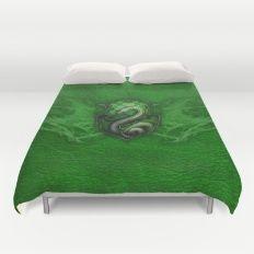 Slytherin Duvet Cover Picnic Blanket, Outdoor Blanket, Ravenclaw, Duvet Covers, Bedroom, Dorm Room, Bedrooms, Picnic Quilt, Dorm