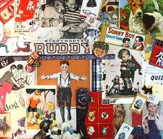 Boy and his Pet Dog*Pet Inspiration Kit*Vintage Ephemera Paper Pack by Scrappybird on Etsy