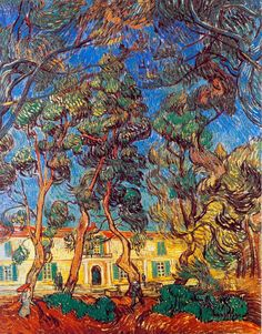 Vincent van Gogh - Trees in the Garden of Saint Paul Hospital, October 1889, Saint-Rémy-de-Provence, France, oil on canvas, The Armand Hammer  Museum of Art, Los Angeles, California