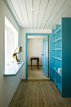 Window sill = desk. Clever!  (The rest of the house is pretty gorgeous too.)