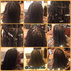 Style: Loc Retight (twisted/palm-rolled)   Client's Hair Type: 3b/c  Hair Added: NA (Human hair added during initial install but none added for retight)   Products Used: Coiled! by Conscious Coils (Original Refresher Spray and Loc Gel)     Time: 1hr 28mins   Style Duration: Retight every 4-6weeks #consciouscoils #consciouscoilssalon #coiledbyconsciouscoils
