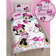 Disney Minnie Mouse Handmade UK Single US Twin Rotary Duvet Set DMNHANDS002UK1 ** Visit the image link more details.