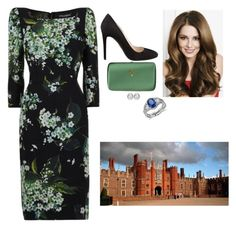 """""""Inagurating a Flower in her Namesake at Hampton Court Palace"""" by fashion-royalty ❤ liked on Polyvore featuring Blue Nile, Dolce&Gabbana and Prada"""