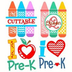 Back to School Pre-Kindergarten Pack with Heart, Color Pencils in Zebra and Chevron Print Monogram Split and Round Circle Frame Cuttable Design Cut File. Vector, Clipart, Digital Scrapbooking Download, Available in JPEG, PDF, EPS, DXF and SVG. Works with Cricut, Design Space, Sure Cuts A Lot, Make the Cut!, Inkscape, CorelDraw, Adobe Illustrator, Silhouette Cameo, Brother ScanNCut and other compatible software.