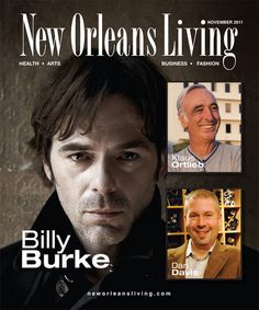 @Billy_Burke on the Cover of New Orleans Living Magazine