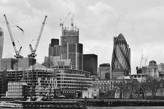 Busy skyline over London.