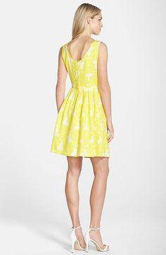 Taylor Dresses Jacquard Fit & Flare Dress | Nordstrom