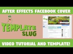 After Effects Facebook Cover Video Template and Video Tutorial Facebook Header Template, After Effect Tutorial, Slug, Freelance Graphic Design, After Effects, Website Template, Creative Design, Templates, Cover