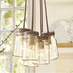 Glass jar pendant lights – Tudo And Co
