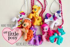 Diy ♥ my little pony necklaces