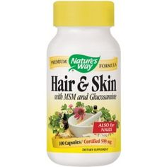 Nature's Way Hair & Skin Herbal Formula with MSM and Glucosamine:  This formula represents the powerful synergy of current scientific research and traditional herbal medicine.