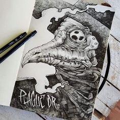 Plague Dr. Done by @rustemhorzum at @tattoostudio115 Bergen, Norway