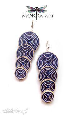 • gustowne kolczyki, biżuteria - kolczyki sutasz bluespiral