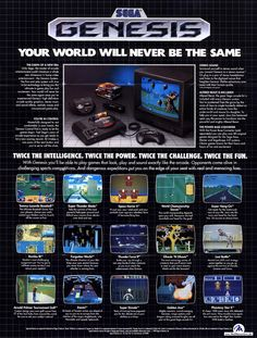 The first video game system me and my brothers had. Sonic, PAC man, zombie attack, and many more great games! Video Vintage, Vintage Video Games, Classic Video Games, Retro Video Games, Vintage Games, Video Game Art, Pc Gamer, Retro Gamer, Mtv