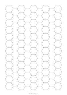 Printable Half Inch Gray Hexagon Graph Paper for A4 Paper A4 Paper, Graph Paper, Printable Paper, Maths, Printables, Quilts, Gray, Note, Print Templates