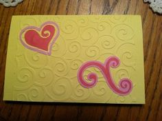 Very Simple Embossed Anniversary Card with Cricut cut-outs - from Me & My House
