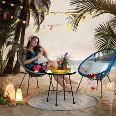 Sommerkollektion 2020, My Home, Stilthema, Wohnideen Caribbean, Patio, Outdoor Decor, Home Decor, Summer, Products, Basket Weave Braid, Sunroom Playroom, Light Chain