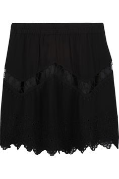 Cutout Scalloped Skirt, Black. Mini SkirtsCrepesMinisPancakes. IRO Flynn ...