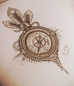 Compass tattoo idea for thigh... All we need is a little time and direction, right??