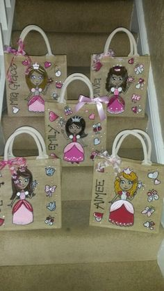 Little princesses - these are small jute bags