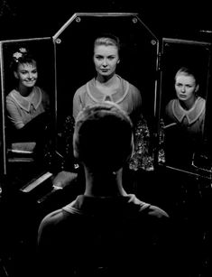 Joanne Woodward in her Oscar-winning role as a woman with multiple personality disorder in The Three Faces of Eve (1957, dir. Nunnally Johnson) (photo by Ralph Crane)