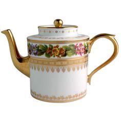 "Bernardaud Limoges ""Botanique"" Teapot"