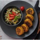 Für Kiga & Schule: Partyschlange & Fingerfood für´s gesunde Buffet - Food & Travel-Blog Falafel, Buffet Party, Quinoa Salat, Healthy Recipes, Snacks, Meals, Chicken, Trommler, Creme