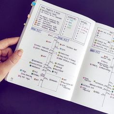Daily Bullet journal layout out with time tracker and exercise tracker; fairly minimal with a pop of color Organization Bullet Journal, Bullet Journal Notes, Bullet Journal 2019, Bullet Journal Spread, Bullet Journal Layout, Planner Organization, Bullet Journal Inspiration, Organizing, Bujo