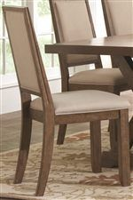 Coaster Bridgeport Rustic Solid Wood Upholstered Side Chair - Coaster Fine Furniture