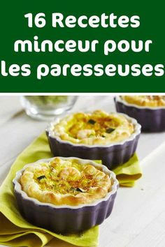 16 Recettes minceur pour les paresseuses Croque Monsieur, Menus, Cooking Light, Beignets, Cooking Time, Caramel Apples, Weight Watchers Meals, Clean Recipes, Gratin