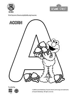 Art: Sesame Street | PBS Kids #MPBAmGrad   Find coloring pages for all the letter of the alphabet!