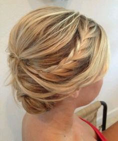 maid of honor hair? Maybe. Would like to see the front.