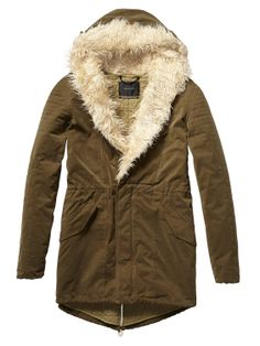 Technical Parka With Quilted Lining > Womens Clothing > Jackets at Maison Scotch