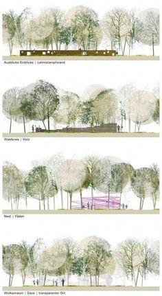 Landscape Architecture Section, Landscape And Urbanism, Landscape Plans, Architecture Drawings, Landscape Design, Landscape Architects, Architecture Portfolio, Architecture Panel, Architecture Diagrams