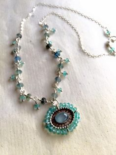 Turquoise Necklace, Beaded Necklace, Jewelry Design, Beaded Collar, Pearl Necklace, Teal Necklace, Beaded Necklaces