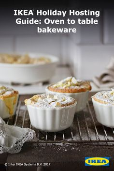 Sweeten the dessert menu for your nearest & dearest with #IKEA dessert dishes that transfer perfectly from oven to table. Holiday guests are sure to enjoy these tasty treats.