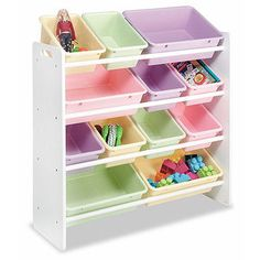 Have this in both of the girls room. PERFECT for getting the clutter off the floor. The kids love the colorful bins.