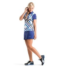 brilliant blue ladies golf outfit from #PumaGolf #golf4her #fallgolf
