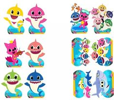 lembrancinha baby shark para imprimir Baby Girl Toys, Toys For Girls, Shark Party, Baby Shark, Baby Decor, Birthday Party Themes, Decoration, Crafts, Animals