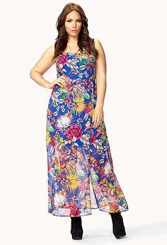 Tropical Goddess Maxi Dress   FOREVER21 PLUS - 2041521153
