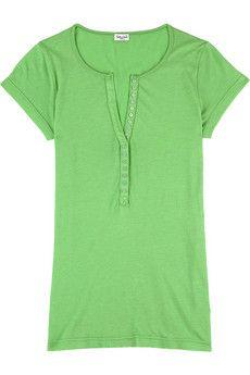 Splendid Button front t-shirt | NET-A-PORTER