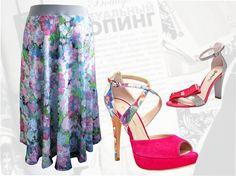 """Купить летнюю шифоновую юбку """"Сирень"""" для полных женщин в интернет-магазине"""