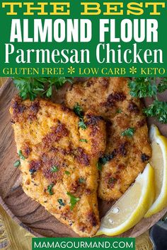 Gluten Free Crispy Baked Chicken recipe is breaded in almond flour and parmesan for an easy way to make gluten free chicken nuggets, tenders, or breasts. Baked Chicken Recipes, Gluten Free Chicken, Turkey Recipes, Beef Recipes, Healthy Recipes, Zoodle Recipes, James Martin, Dinner Dishes, Food Dishes