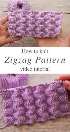 Easy Knitting, Knit Patterns, Baby Knitting Patterns, Knitting Designs, Knitting Projects, Stitch Patterns, Knitting Tutorials, Knitting Yarn, Crochet Stitches