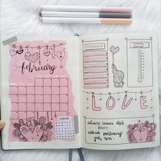 Are you looking for gorgeous pink and red bullet journal themes for valentines day? Or even just romantic and feminine bullet journal and planner themes? We have collected over 80 gorgeous themes to inspire stunning bujo layouts February Bullet Journal, Bullet Journal Monthly Spread, Bullet Journal Writing, Bullet Journal School, Bullet Journal Ideas Pages, Bullet Journal Layout, Bullet Journal Inspiration, Journal Pages, Bellet Journal