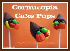 Cornucopia cake pops | Community Post: 15 Thanksgiving Themed Goodies To Gobble This Fall